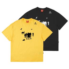 FMACM 20SS 景观物体剪影印花夏季基础款短袖T恤