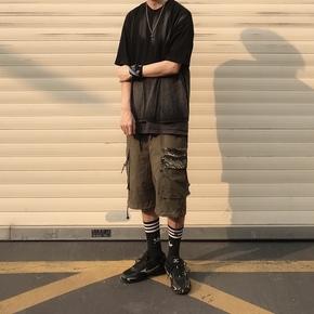 ILLUSIONIST 虎纹抽绳短裤