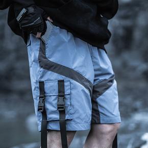 Killwinner 国潮四织带蓝色短裤