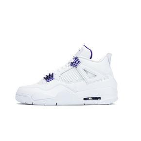 Air Jordan 4 AJ4 白紫 紫葡萄乔4情侣篮球鞋 CT8527-115(2020.5.14发售)
