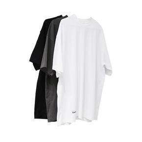 STS 2020 春夏 廓形純色基礎滑感寬松打底短袖