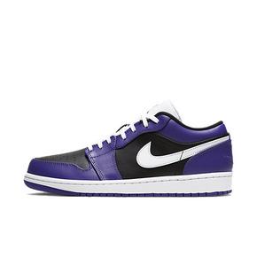 Air Jordan 1 low AJ1 黑紫脚趾 低帮篮球鞋 553558-501