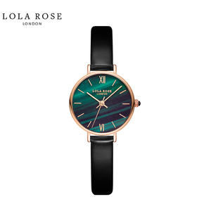 LolaRose 英国小众手表女学生简约文艺ins风女表森系小绿表 LR2032