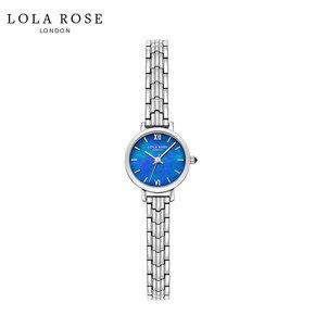 Lola Rose手表女时尚防水石英女士手表蓝宝石表镜蓝贝小银表LR4165-1