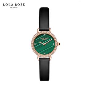 Lola Rose 防水石英女士手表 蓝宝石表 镜孔雀石小绿表 LR2196-2