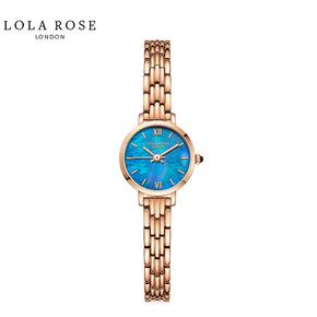 Lola Rose手表女时尚防水石英女士手表蓝宝石表镜蓝贝小金表LR4170-1