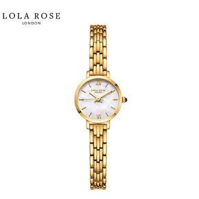 Lola Rose手表女时尚防水石英女士手表蓝宝石表镜幻彩白贝小金表LR4164-1