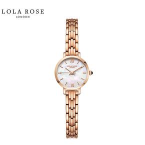 Lola Rose手表女时尚防水石英女士手表蓝宝石表镜幻彩白贝小金表LR4168-1