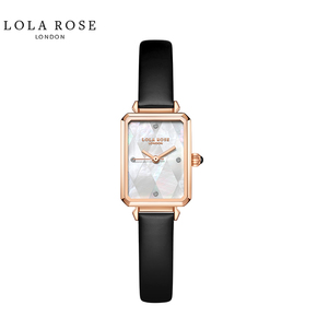 Lola Rose 防水石英女士手表 拼接幻彩白贝小方表 LR2182-1