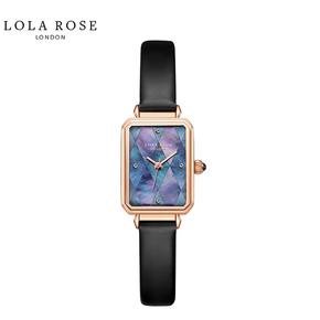 Lola Rose 手表女 时尚防水石英女士手表 拼接蓝贝小方表 LR2180-1