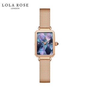 Lola Rose 手表女 时尚防水 石英女士手表 拼接蓝贝小方表 LR4180-1