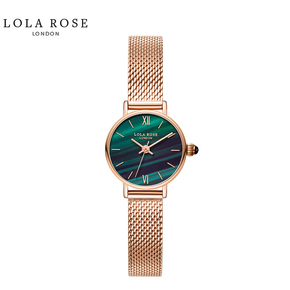 Lola Rose 手表女时尚防水石英女士手表正品小绿表 LR4116-1