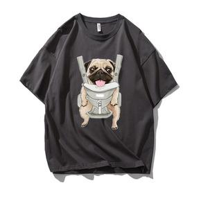 JOESPIRIT SUCK系 春夏 棉麻 复古欧美风 圆领运动T恤 多色可选 TC006001