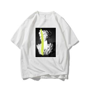 JOESPIRIT SUCK系 春夏 棉麻 复古欧美风 圆领运动T恤 多色可选 TC006005