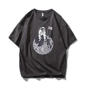 JOESPIRIT SUCK系 春夏 棉麻 复古欧美风 圆领运动T恤 多色可选 TC006007