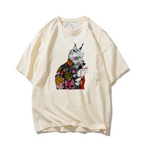 JOESPIRIT SUCK系 春夏 棉麻 复古欧美风 圆领运动T恤 多色可选 TC006008