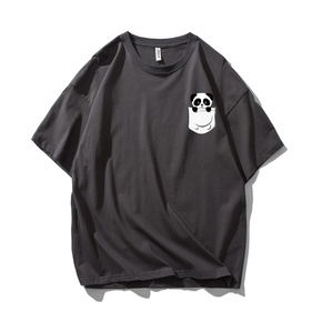 JOESPIRIT SUCK系 春夏 棉麻 复古欧美风 圆领运动T恤 多色可选 TC006011