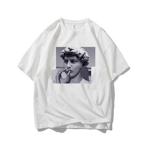 JOESPIRIT SUCK系 春夏 棉麻 复古欧美风 圆领运动T恤 多色可选 TC006012