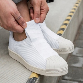 Adidas BW3S Slip On 一脚蹬 纯白 BY2949