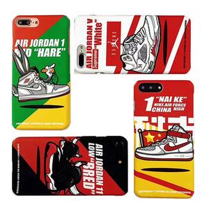 【定制】AIR JORDAN球鞋插画磨砂半包硬壳 for iPhone 6/s/7/P