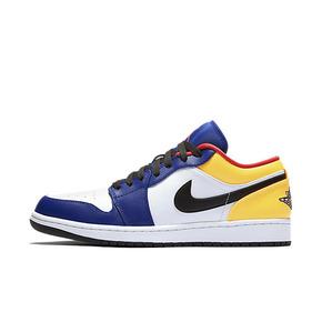 Nike Air Jordan 1 Low 黑蓝橙 低帮 篮球鞋 553558-123