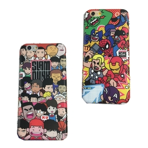 【定制】灌篮高手 复仇者联盟 卡通版全包软壳手机壳for iPhone6/7/PLUS
