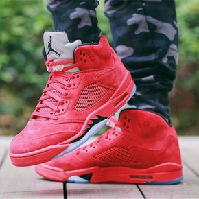Air Jordan 5 red Suede 大红 愤怒公牛 136027-602