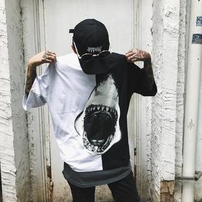 GYASTAL 17SS TEE 张口大白鲨鲨鱼短袖T恤