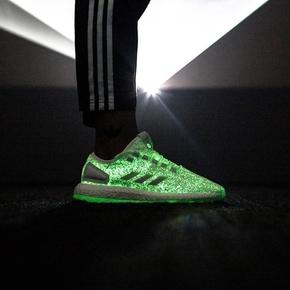 Wish x Sneakerboy x Adidas Pure Boost 联名 限量夜光 S80981