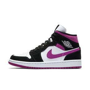 Air Jordan 1 AJ1 黑紫脚趾 黑白紫 黑粉中帮 BQ6472-005
