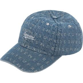 Supreme 20ssjacquard logos denim 弯沿帽