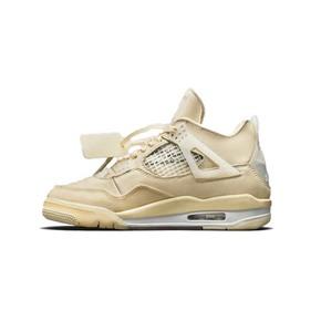 预售!OFF-WHITE x AJ4 WMNS AJ4 OW 联名蝉翼半透明篮球鞋 CV9388-100(2020.7.25发售)