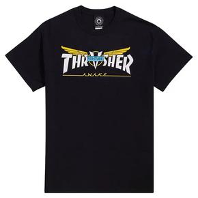 秒杀!Thrasher Venture Collab S/S字母V翅膀 美版印花短袖