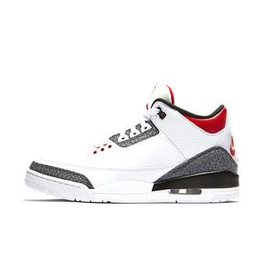 预售!Air Jordan 3 AJ3 丹宁火焰红黑白水泥双logo CZ6431-100(2020.8.27发售)