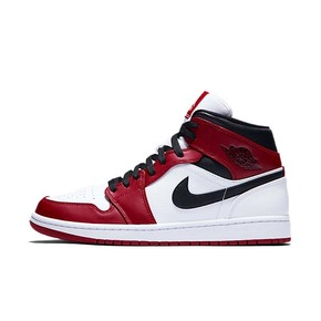 "Air Jordan 1 Mid ""Chicago"" 小芝加哥 篮球鞋 554724-173"