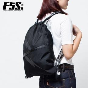 潮流双肩包原创设计师纯黑篮球收纳包