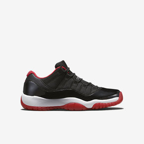 "Air Jordan 11 Low GS ""Bred"" 黑红配色 528896-012"