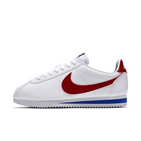 Nike Classic Cortez Leather 阿甘复古跑鞋 白蓝红 807471-103