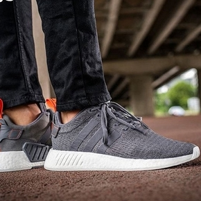 Adidas NMD R2 BOOST 灰红 BY3014