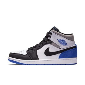 "Air Jordan 1 Mid SE ""Game Royal"" AJ1黑脚趾 大闪电篮球鞋 852542-102"