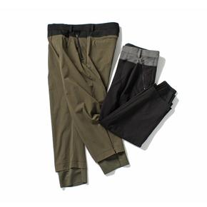 PRAGMATY 多重物料运动型休闲裤 户外机能双层九分裤 314202