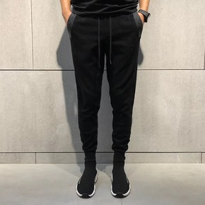 JOESPIRIT 意大利版出口特定暗花束腿裤 0619-1