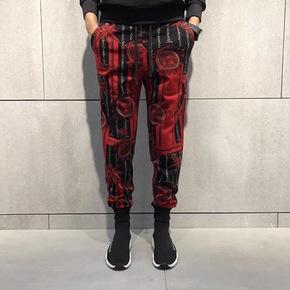 JOESPIRIT意式出彩花纹立体修身束腿裤 59031