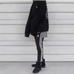 Adidas Slim Pants 经典黑白 女款收脚裤 S97113