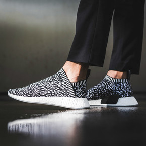 "Adidas NMD City Sock 2 ""Sashiko"" 黑斑马 跑步鞋 BY3012"