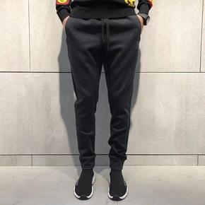 JOESPIRIT拉链设计高定面料精工暗黑束腿裤 7168