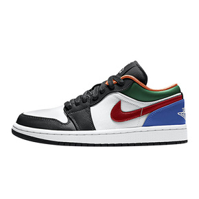 "Air Jordan 1 Low ""MULTI-COLOR""彩色拼接低帮篮球鞋 CZ4776-101"