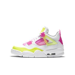 """Air Jordan 4 GS """"Lemon Venom""""糖果AJ4女款篮球鞋 CV7808-100(2020.8.14发售)"""