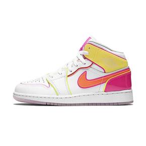 Air Jordan 1 AJ1 Mid彩虹糖水晶底女子篮球鞋 CV4611-100