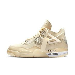 OFF-WHITE x AJ4 WMNS AJ4 OW 联名蝉翼白帆女鞋 CV9388-100